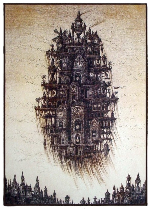 Sergey Tyukanov - Art of Day Featured Artist Fantasy Etchings(View Sergey's Art Feature)
