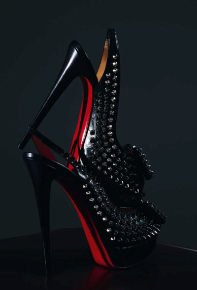 Christian Louboutin Clou Noeud Studded Slingbacks  (Photographed by Thomas Lagrange for Antidote #1)