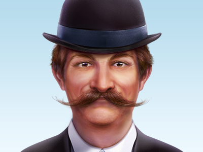 Dribbble - A Man With Moustache by Artua - TWO words; AWE SOME