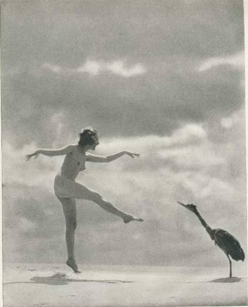 Sand Cranes by J. W. Pondelicek in Theatre Magazine, January 1923
