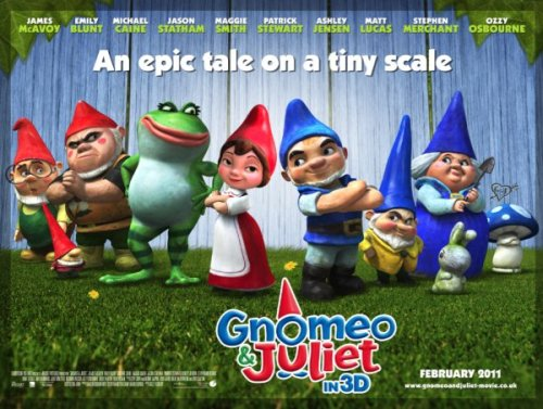 Fuck Justin Bieber and Adam Sandler. Gnomeo and Juliet is in theaters today!