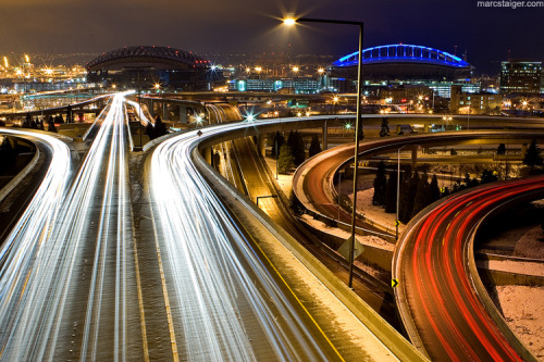 lightpaint:  I-90 interchange by ~stranj on deviantART