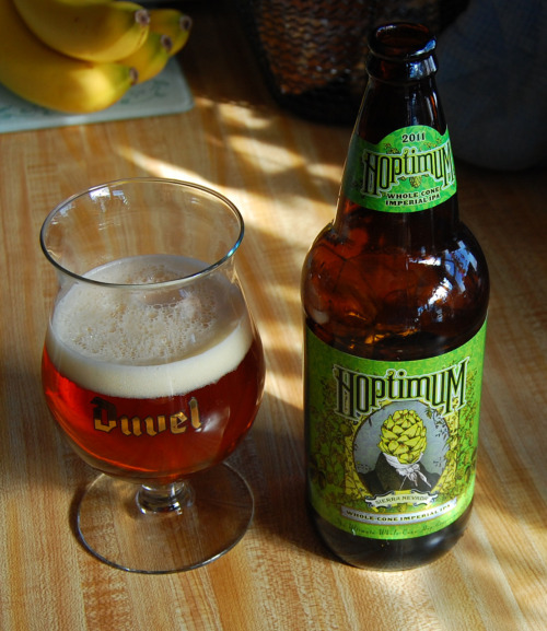 Sierra Nevada: Hoptimum I had been waiting a long time for this to be released and even longer to get it up here in Northern Michigan. When it finally came in beer geeks from T.C. rushed in to snatch up the very limited supplies. So, was it worth the hype? Despite some disappointing reviews I had seen, I have to say that this was an excellent, memorable and interesting imperial IPA. Resiny hops and a solid malt backbone gave it some nice balance, but the finish stayed very dry and hoppy. It also might be one of the most attractive brews I have ever seen. If you can still track this down I would highly recommend picking up a bottle.