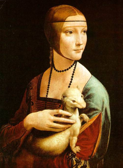coolifornia:  Lady with an Ermine  by Leonardo (c.1489–1490)