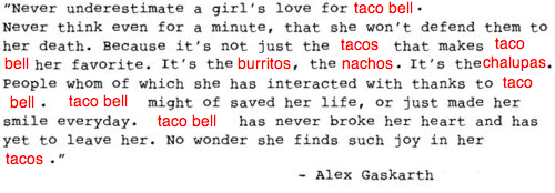 To clear up any confusion, credit for the original quote goes to Alex Gaskarth and can be found here.