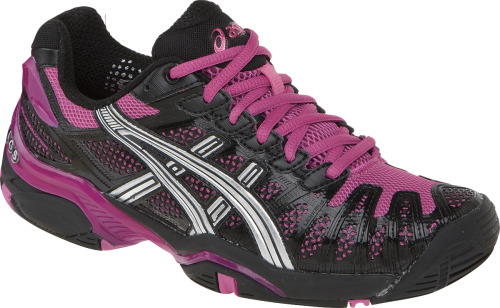 Great looking new tennis shoe from ASICS. Love the color and with a black outfit so tough!