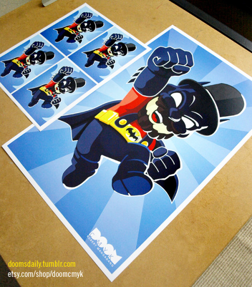 Super Batman Lincoln Mario 2nd version (Blue) 11x17 poster and stickers available at: http://www.etsy.com/shop/DoomCMYK