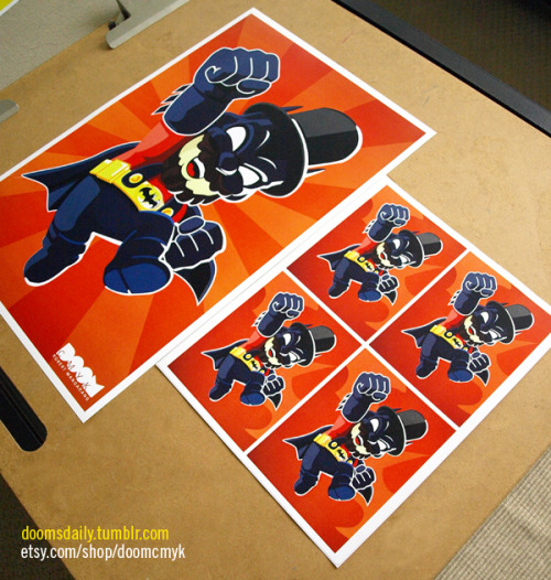 Super Batman Lincoln Mario 2nd version Red 11x17 poster and stickers available at: http://www.etsy.com/shop/DoomCMYK