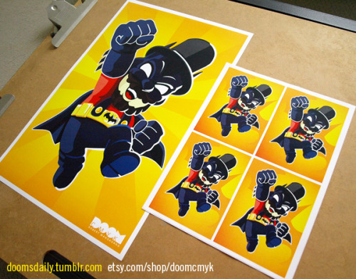 Super Batman Lincoln Mario 2nd version Yellow 11x17 poster and stickers available at: http://www.etsy.com/shop/DoomCMYK