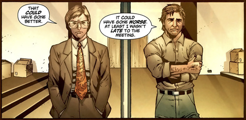 winzler:  Alan what is that tie.  I love that the comic artists flawlessly captured the Bradley Bitchface here.