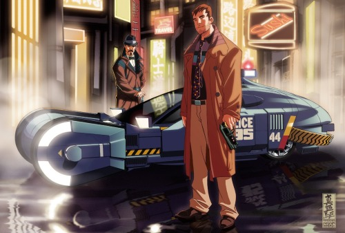 Blade Runner Anime. art by Mark Brooks | via diablo2003.deviantart.com