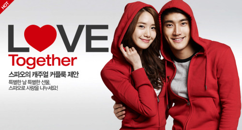 "fyeahyoonwon:   Cr. SPAO  Why yes. It's LOVE TOGETHER and HOT indeed. :"">"