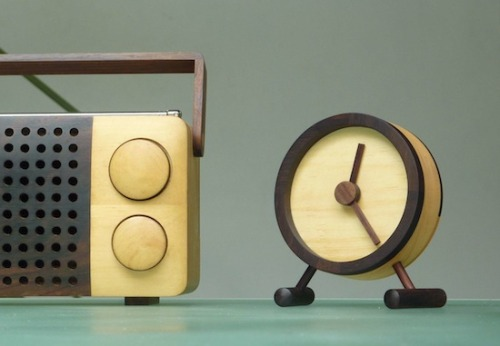 Wooden radio company for FINE ECODESIGN