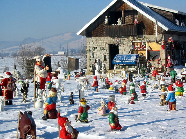 Garden gnomes, Gura Humorului, Romania (by Irish Guy's World the World Trips)