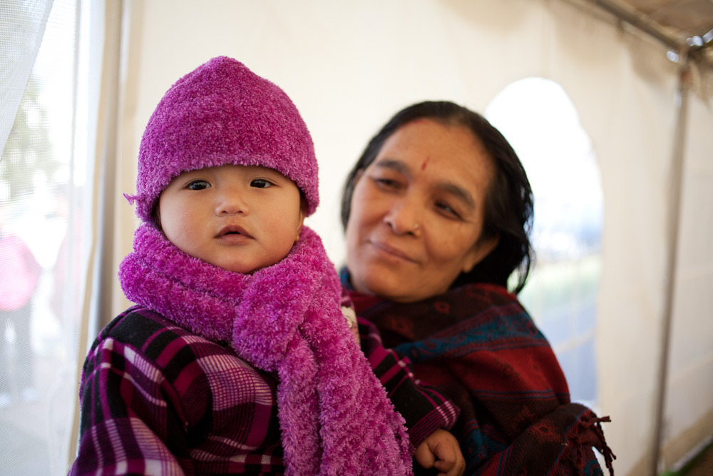 Bhutanese Baby with Grandmother  photo by tsparks