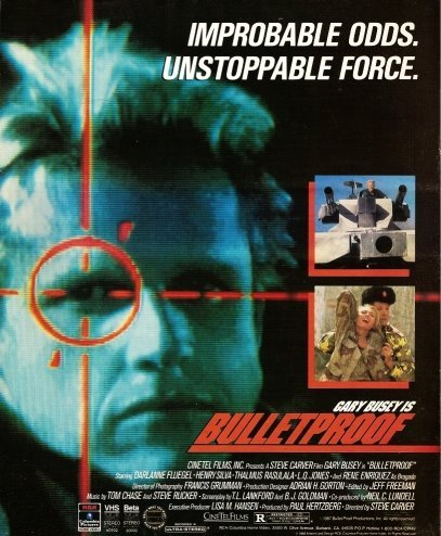 Bulletproof (1988) The third and final film in our Big Box Club trilogy, in which Gary Busey plays a character called McBain. No shit. Follow #bigboxclub on Twitter for all the action.
