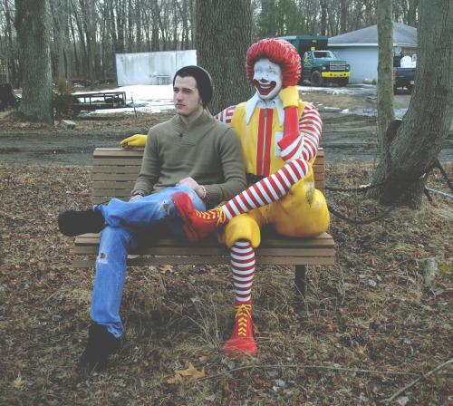 blacksandybeaches:  Today, me and Ronald bonded.