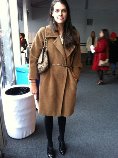A camel coat and Lanvin bag - timeless combination #NYFW