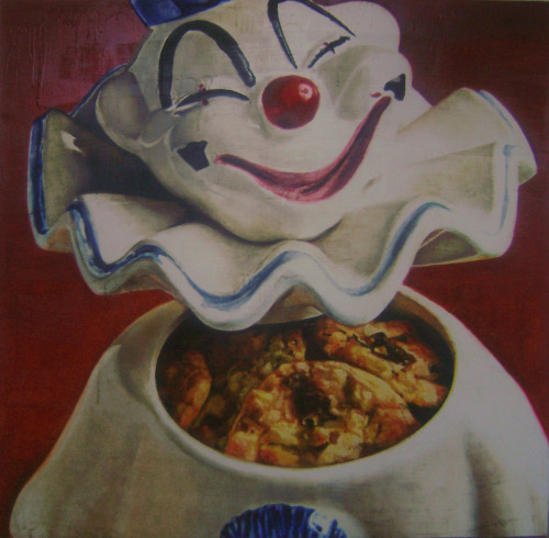 Cookie Jar Clown acrylic, oil and alkyd on canvas 5' x 5'