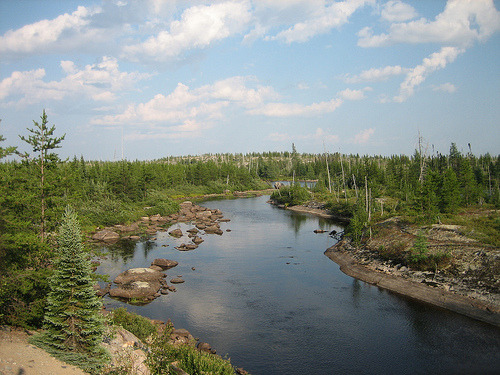 This  river is named after Pontax, one of the traditional Cree fur trappers.   The conservation of the trapper livelihood remains a central concern of  Cree negotiations with outsiders.Accord to Daniel Francis and Toby  Morantz, fur trading has been fair, cooperative, and peaceful since the  seventeenth century (Francis,1983:25,167). Francis, Daniel; Morantz, Toby Elaine. Partners in Furs: a History of the Fur Trade in Eastern James Bay. McGill-Queen's University Press, 1983.