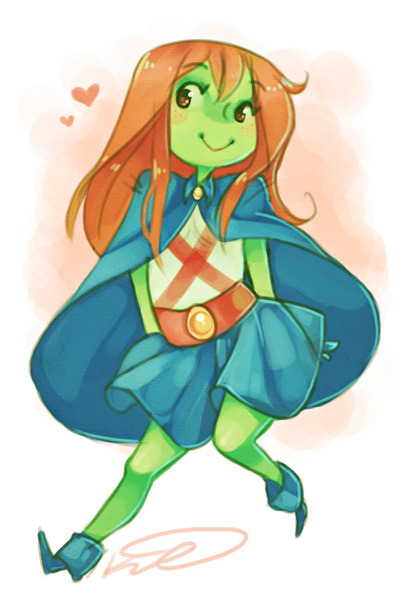 teaat2am:  zatanna:  idratherbeloislane:  Miss Martian by Vespee. All this cute M'gann fanart is definitely cheering me up.   o-oh my gosh!  oh look krispy : )