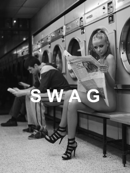 heaadrussh:  pure swag  Gotta love laundry day! XOXO