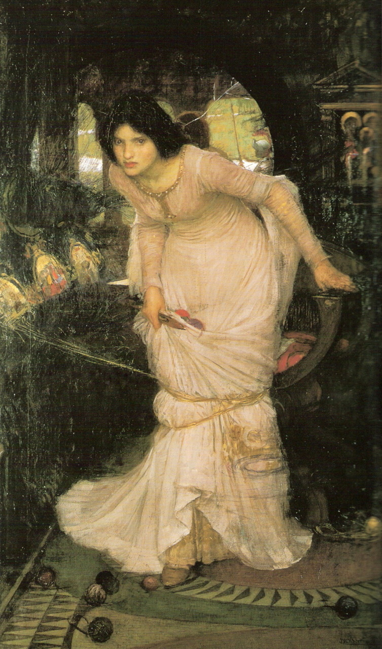 The Lady of Shallot Looking at LancelotJohn William Waterhouse