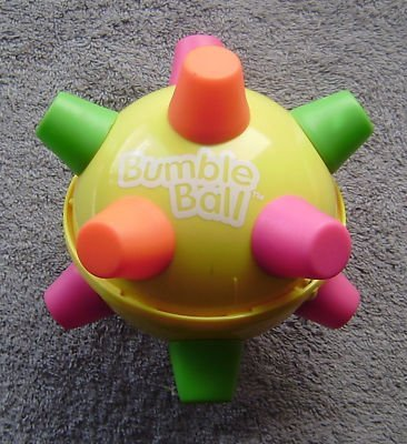 kindofacornflakegirl:  Bumble Balls seem more suited as a dog toy than a kid toy now that I look back on it.
