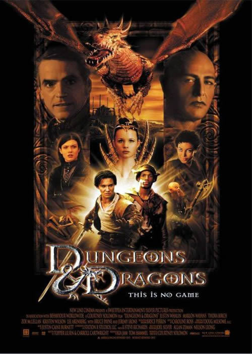 2000 - Donjons et dragons de Courtney Solomon Acteur : Jeremy Irons, Justin Whalin, Marlon Wayans