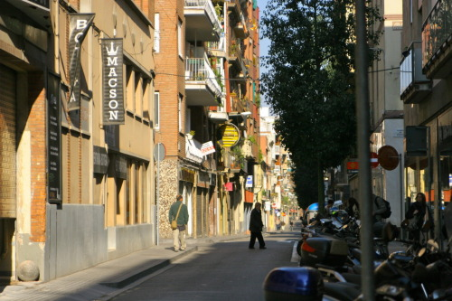 One of the little streets in Gracia, an awesome part of Barcelona