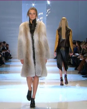Derek Lam Fall 2011 shows off furs and soft leathers….