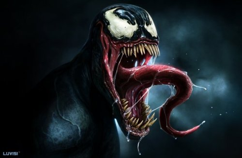 The Marvel beast Venom looks ridiculously good in this artwork by Dan  LuVisi. Related Rampages: Optimus Prime | BOBA FETT |BULL-SHARK | Kick-Ass VENOM by Dan  LuVisi / Adonihs (CGHUB) (deviantART) (Facebook) Via: herochan