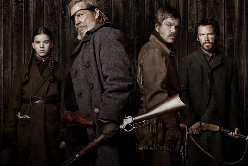 True Grit has finally appeared in cinemas here, after what feels like a very long wait! I am a massive fan of the Coens, so it should go without saying that I was really looking forward to this film. I haven't seen a lot of Westerns, but I do appreciate the good ones that I have seen in the past, so I was also pretty excited to see how the Coens would take on this genre. The main character in the film is a 14 year old girl, Mattie Ross (played by Hailee Steinfeld). She arrives in town to claim the body of her father, who was shot and killed by one of his hired hands, Tom Chaney  (Josh Brolin). She is determined to see his killer hanged, so she hires US Marshal Rooster Cogburn (Jeff Bridges), whom she believes has 'true grit'. They are joined by Texas Ranger LaBoeuf (Matt Damon), and set out on the trail of Chaney and the outlaw gang he has joined. I could say a lot more about this film, and indeed I wrote out several long, rambling paragraphs, but then deleted them because I don't think I can adequately sum up the film or do it justice. Oh well, there are proper film reviews for that. So I will cut to the point: everything about the film was brilliant and I loved it. The plot, the dialogue, the characters and the performances, the cinematography, the soundtrack, the balance between the grim moments and the black humour - it is all perfect. It is exactly what I'd want from a Western, and while it may be different from other Coen Brothers films, it still has all of the quality you would expect from them. I really cannot recommend it highly enough.