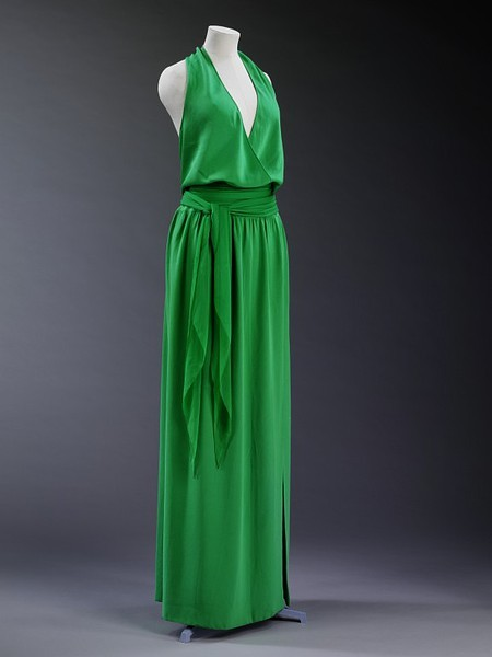 Halston | c. 1975 This is gorgeous. The color is perfection.