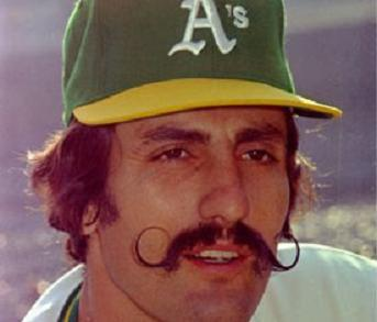 Rollie Fingers with his awesome handlebars.