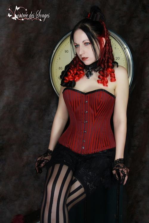 steampunkgirls:   Victorian Burgundy Corset  by ~Contreedessonges