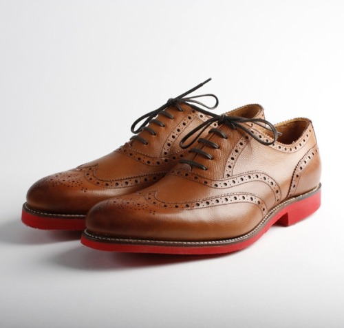 Do you wish that your wingtips had red bottoms so you and your girl can match? Your prayers have been answered by Grenson, a shoe company from England.