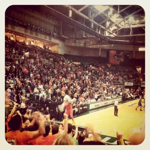 C-A-N-E-S CANES! Miami vs Duke (Taken with instagram)