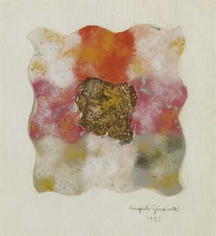 Augusto Giacometti Abstraction in pink, red, white and gold, 1921 http://www.christies.com/LotFinder/lot_details.aspx?intObjectID=5228412  AUGUSTO GIACOMETTI (1877-1947)  Abstraktion in Rot, Blau, Schwarz, Farbstudie mit neun Feldern  Pastell auf Papier http://www.christies.com/LotFinder/lot_details.aspx?intObjectID=4447207