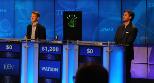 nprfreshair:  Tonight on Jeopardy, a computer named Watson takes on two of the show's most celebrated contestants: Ken Jennings and Brad Rutter. I wonder what Watson will talk about during the bio segment….