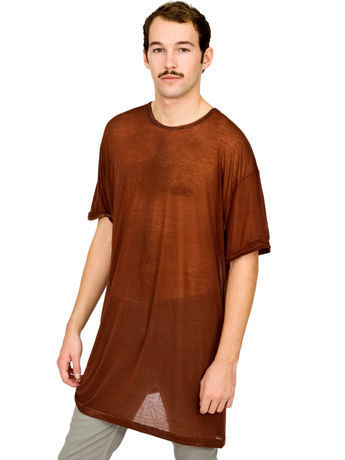 Oversized Ringer See Thru T-Shirt No.