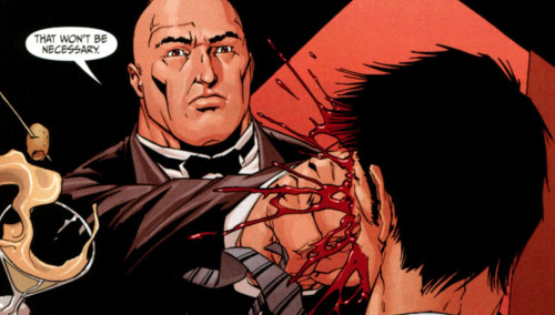 Why you should be reading Secret Six - part four: … and Bane deals with the problem. He's such an elegant man.