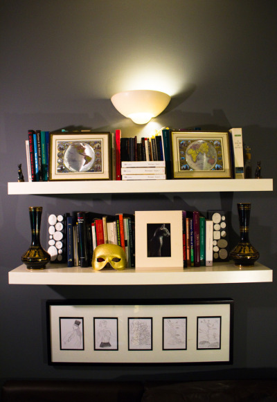 thehunterandgatherer:  The Hunter & Gatherer 2011 Bookshelves I Featured Les Mains Libres - Illustrations by Man Ray with poems by Paul Éluard; originally published in Paris in 1937  and reproduced as postcards by the V&A in 2007