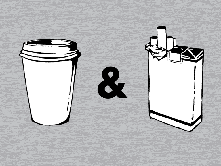 chrstphrrtclff:  coffee & cigarettes.