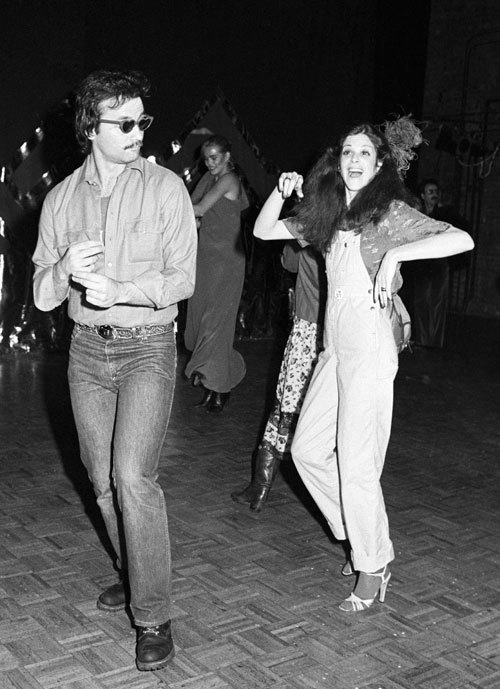 Bill Murray and Gilda Radner, dancing together at Studio 54's 1978 Valentine's Day ball. We love this a lot. Photograph via WWD from Conde Nast Digital Archive.