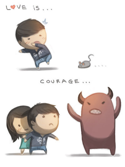 Love is… courage. by ~hjstory