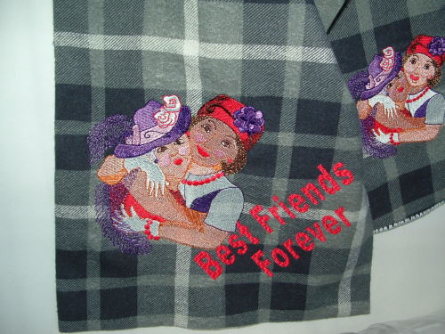 I'm finally back at the embroidery machine after a nasty bout with the flu.  I'm making flannel scarves because I'm so cold this winter.  This scarf was just posted in the etsy shop.  I sure hope everyone likes it.  I think it's adorable.  Have a great day and stay warm.