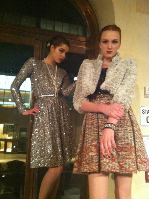 textbook:  At Alice & Olivia.  I want that sparkly dress.