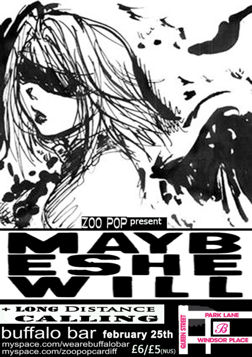 Zoo Pop present Maybeshewill and Long Distance Calling at Buffalo Bar, 25th February 2011.