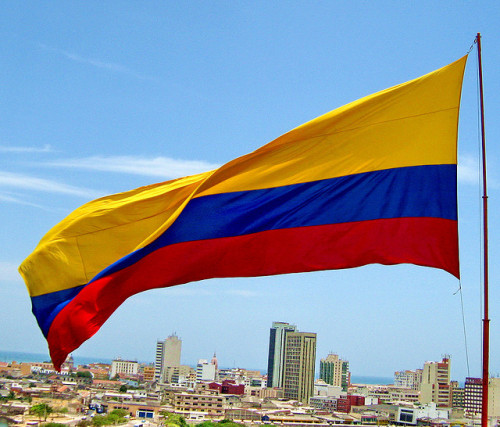 Colombian Flag. Cartagena (by jjrestrepoa)